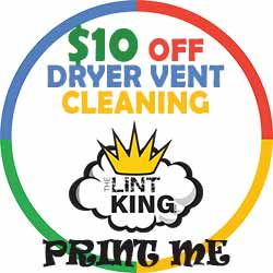 Schedule a Dryer Vent Cleaning Today and Get $10 OFF