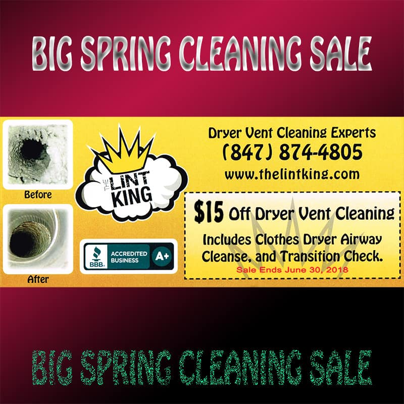 Local Dryer Vent Cleaning by The Lint King - Schaumburg Rocks Local Services - Print Me